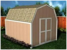 12'x20' All-Purpose Gambrel Roof Shed Plans