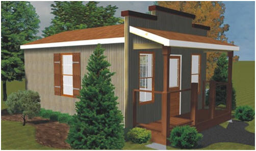 Blueprints - Old West Saloon-Style Shed, Guest Cottage, Studio or Shop