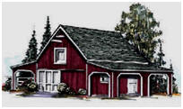 Pole Barn Plan with Attached Caroprts