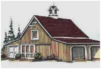 Backyard Craft Barn or Hobby Shop