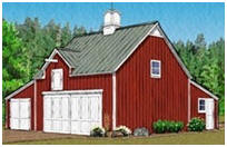 All-Purpose Backyard Pole-Barn with Loft and Workshop
