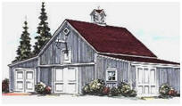 Country Garage Plans with Add-On Sheds