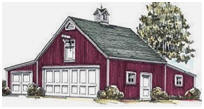 3-Car Country Garage Plans