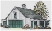 Garage Plans with Tractor Shed and Potting Shed