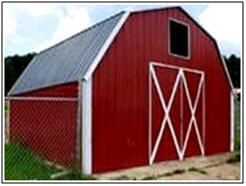Small Barn and Garage Building Kits from Absolute Steel.