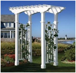 New England Arbors at Amazon.com - Get traditional New England style in modern, durable white vinyl arbors.