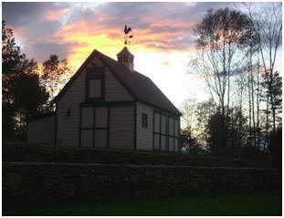 An Alabama Barn at Sunset - Here's architect Don Berg's Woodbury Barn for two cars or tractors, with a workshop and loft. Inexpensive building plans can be purchased at BackroadHome.net