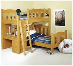 Help your kids create the perfect layout of bunk beds and desks - Get DIY plans for building this bedroom set at Rockler.com