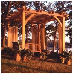 Build a Backyard Pavilion or Pergola - The unique design of this pergola lets you build it to just the right size for your patio, deck or backyard. DIY plans are available from Rockler.com