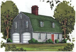 Barn-Style, Gambrel Roof Garages with Loft Apartments - Find building plans at BackroadHomes.com