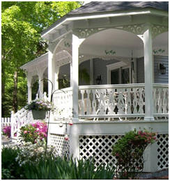 DIY Gazebo Components - Find beautiful, old-time wooden posts, brackets and gingerbread accents for your gazebo or porch at VintageWoodworks.com