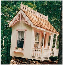 Are you building a Victorian style play house? You'll find beautiful wooden gingerbread, posts and railing to finish it perfectly at VintageWoodworks.com