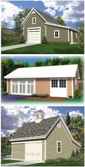 Download Dozens of Workshop Plans - Build your dream wood shop, classic auto barn, metal shop, art studio, crafts barn or backyard office.
